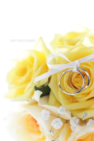 ブライドルブーケと結婚指輪の写真素材 [FYI00028555]