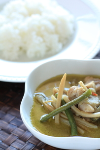 タイのグリーンカレーの写真素材 [FYI00028754]