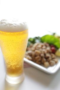 生ビールとなんこつ揚げの写真素材 [FYI00028768]