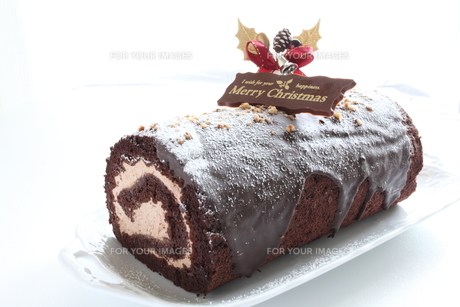 クリスマスケーキの写真素材 [FYI00028832]