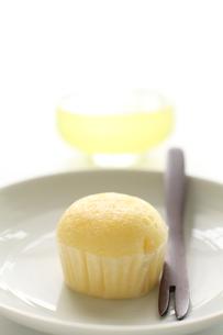 蒸しケーキと冷茶の素材 [FYI00029082]