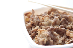 牛丼の写真素材 [FYI00029436]