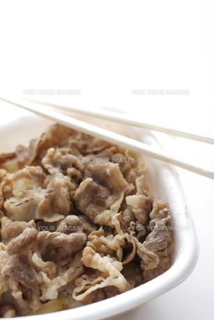牛丼のお弁当の素材 [FYI00029450]