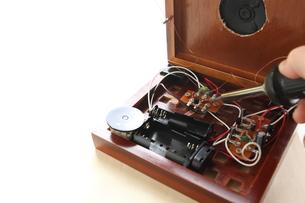手作り1石トランジスタラジオの写真素材 [FYI00029562]
