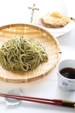 ざる蕎麦(茶そば)の素材 [FYI00029575]