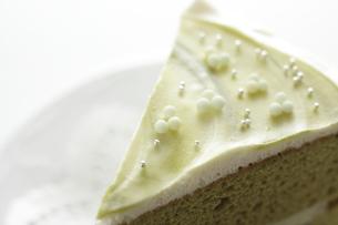 抹茶ケーキの写真素材 [FYI00029714]