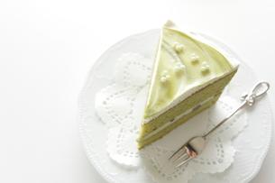 抹茶ケーキの写真素材 [FYI00029721]