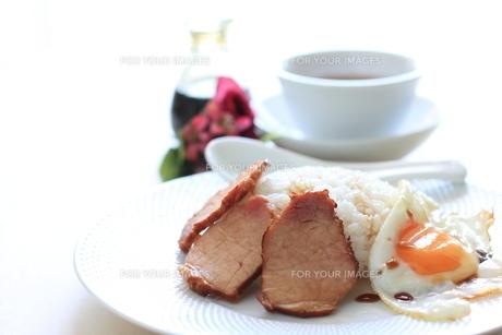 香港料理のチャーシューご飯の写真素材 [FYI00029789]