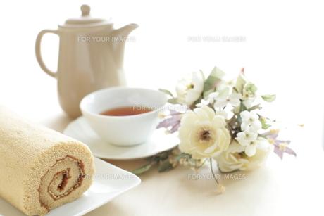 ロールケーキの写真素材 [FYI00029959]