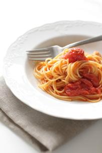 トマトソースのスパゲッティーの写真素材 [FYI00030273]