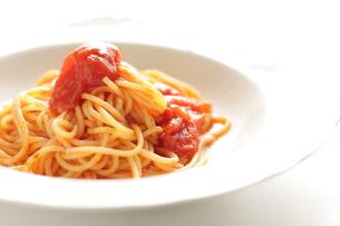 トマトソースのスパゲッティの写真素材 [FYI00030278]