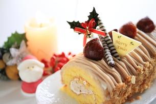 クリスマスケーキの写真素材 [FYI00030356]