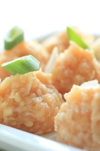 鍋料理の材料の鶏肉団子の写真素材 [FYI00030961]