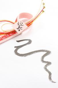 蛇年の年賀状の素材 [FYI00031294]