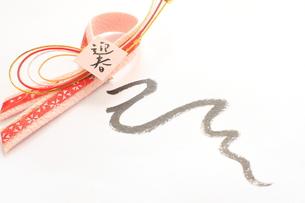 蛇年の年賀状の素材 [FYI00031298]