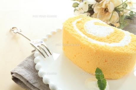 ロールケーキの写真素材 [FYI00031859]