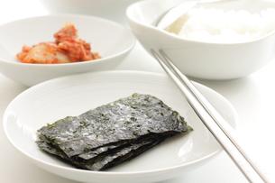 韓国料理の海苔の写真素材 [FYI00032664]