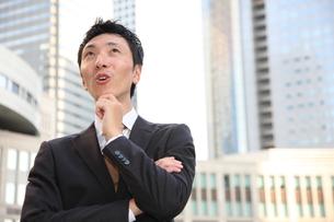 ひらめくビジネスマンの写真素材 [FYI00032817]
