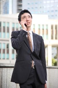 電話をするビジネスマンの写真素材 [FYI00032839]