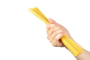スパゲッティを持つの写真素材 [FYI00033272]