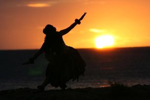 日没のフラダンスの写真素材 [FYI00033683]