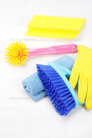 掃除道具の写真素材 [FYI00034050]