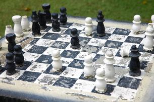 使い古しのチェスの写真素材 [FYI00034116]