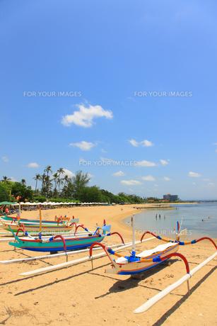 サヌールビーチの写真素材 [FYI00034145]