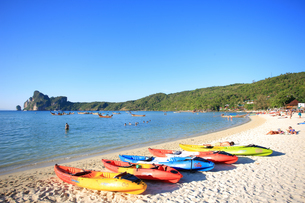 ピピ島ローダラムビーチの写真素材 [FYI00034826]