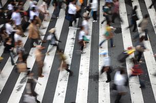 横断歩道を行きかう人々の写真素材 [FYI00034885]
