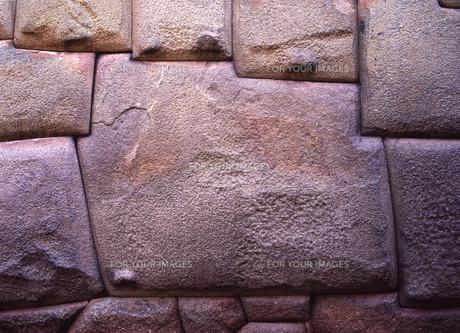 世界遺産クスコ市街12角の石の写真素材 [FYI00034907]