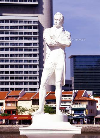 ラッフルズ像の写真素材 [FYI00035316]