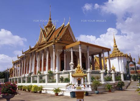 カンボジア王宮の写真素材 [FYI00035441]