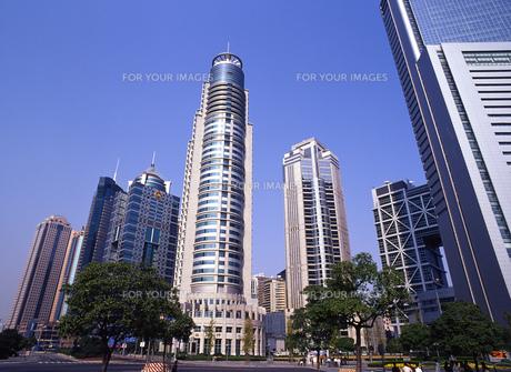 上海の高層ビル群の写真素材 [FYI00035513]