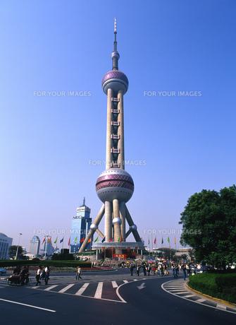 東方明珠電視塔の写真素材 [FYI00035536]