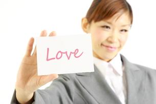 愛のあるビジネスウーマンの写真素材 [FYI00035924]