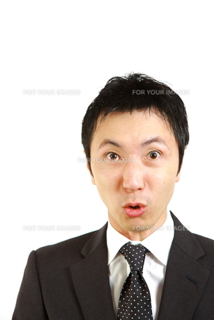 怒るビジネスマンの写真素材 [FYI00036164]