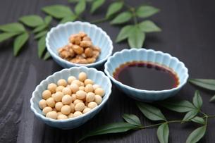 大豆加工食品の写真素材 [FYI00036523]