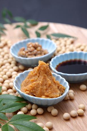 大豆加工食品の写真素材 [FYI00036570]
