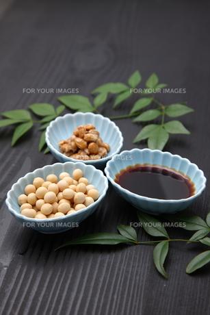 大豆加工食品の写真素材 [FYI00036572]