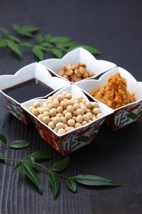 大豆加工食品の写真素材 [FYI00036591]