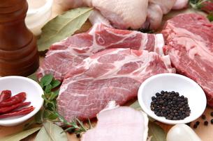 色々な肉の写真素材 [FYI00036642]