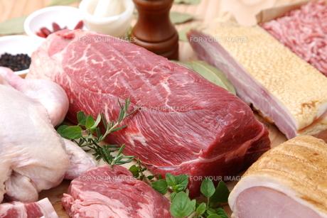 色々な肉の写真素材 [FYI00036658]