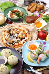 多種多様な料理の写真素材 [FYI00036665]