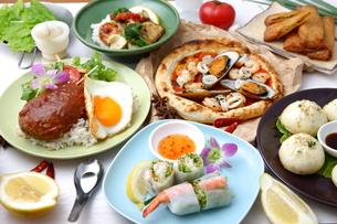 多種多様な料理の写真素材 [FYI00036676]