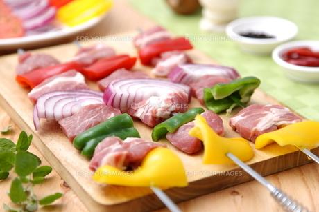 バーベキューの食材の写真素材 [FYI00036677]