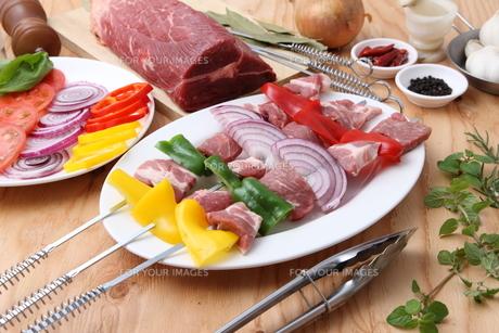 バーベキューの食材の写真素材 [FYI00036686]