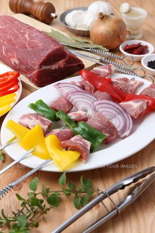 バーベキューの食材の写真素材 [FYI00036687]