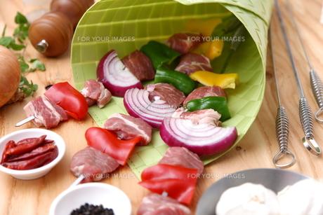 バーベキューの食材の写真素材 [FYI00036702]