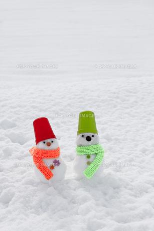 雪だるまの写真素材 [FYI00037396]